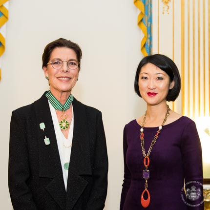 HRH the Princess of Hanover receives the insignia of Commandeur of the Ordre des Arts et des Lettres