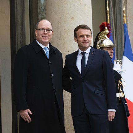 Working visit of H.S.H. Prince Albert II of Monaco to the President of the French Republic