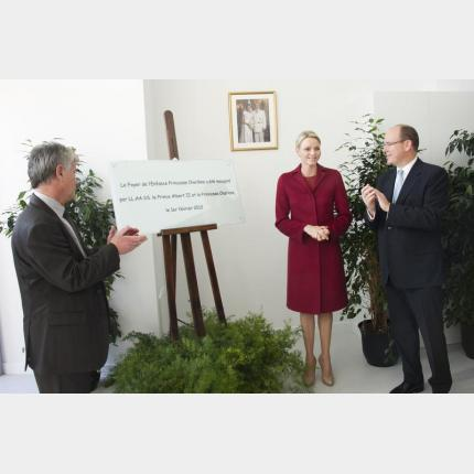 Inauguration of the Princess Charlene Children's Home by THS the Prince and Princess of Monaco