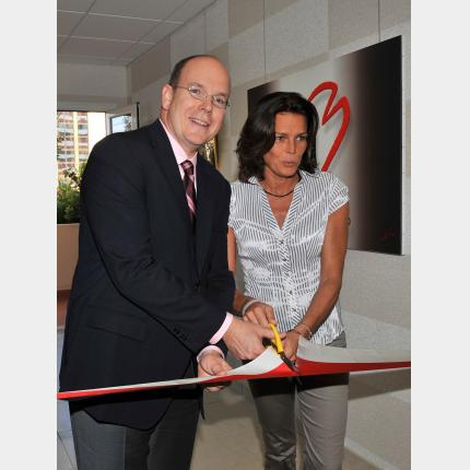 H.S.H. Princess Stephanie opens the new offices of Fight Aids Monaco (F.A.M.) in the Principality